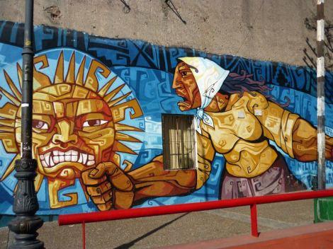 Mural conmemorativo ubicado en el Barrio de La Boca, sobre la lucha de las Madres de Plaza de Mayo.
